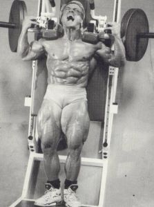Tom Platz was famous for utilising high reps sets to produce bodybuildings most famous legs.